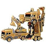 AIOJY Volquete transformado RC Carro del mezclador de la carretilla elevadora de coches de juguete, la serie de Ingeniería de Vehículos de 2,4 GHz de grúa excavadora niveladora robot de plástico, navi