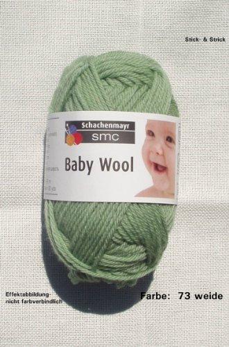 25 gr Baby Wool, Farbe: 73 weide, Brandneu, Schachenmayr, Schurwolle