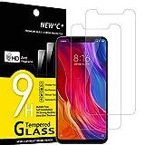 NEW'C 2 Unidades, Protector de Pantalla para Xiaomi Mi 8, Mi 8 Pro, Mi 8 Explorer, Antiarañazos, Antihuellas, Sin Burbujas, Dureza 9H, 0.33 mm Ultra Transparente, Vidrio Templado Ultra Resistente