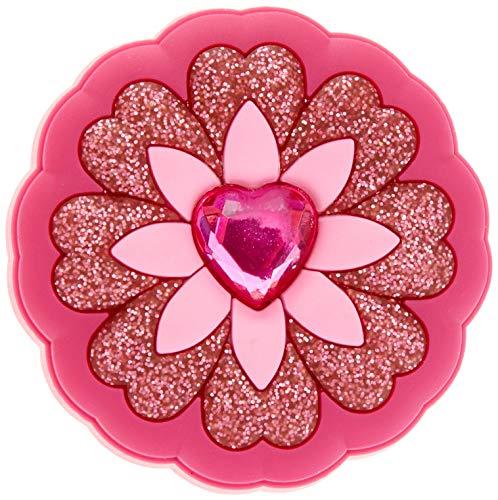 Crocs Glitzernde Jibbitz-Anstecker| Individualisieren Sie Ihre Crocs mit Jibbitz Rhinestone Heart Flower One-Size