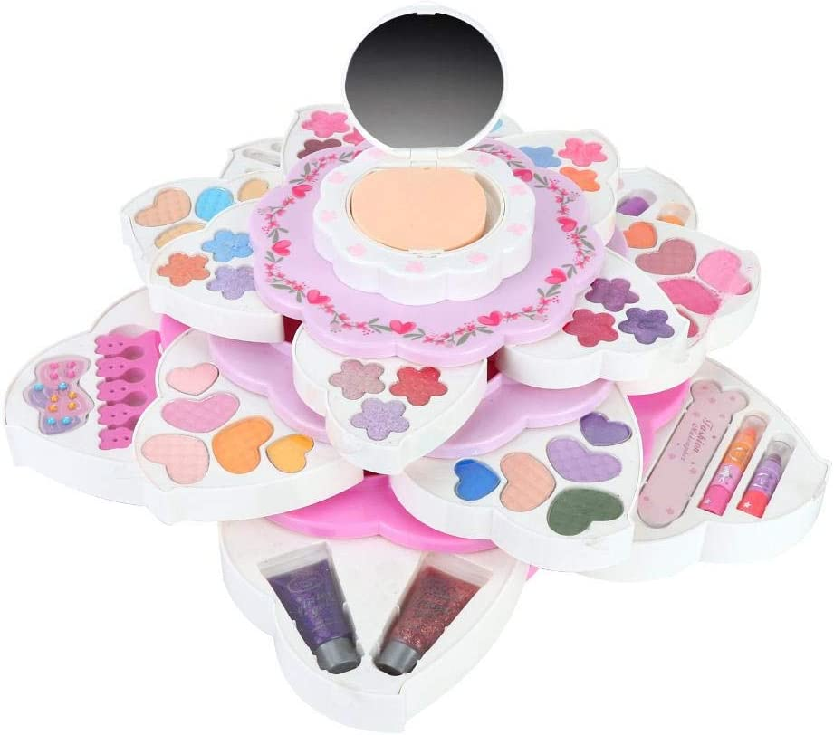 Princess Mini Makeup Challenge the lowest price half Box Pretend Play Gifts Natural Beauty