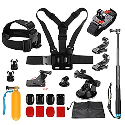 D&F 19 in 1 Basic Accessories Bundle Kit for GoPro Hero 8/7/6/5/4 OSMO Action SJCAM APEMAN AKASO Campark and Other Sport Cam from Dingfeng