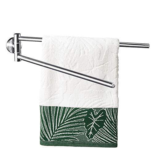 Dailyart Handtuchhalter Bad Ohne Bohren 2 Arme Handtuchstange Edelstahl Selbstklebend Badetuchhalter 45cm Matt