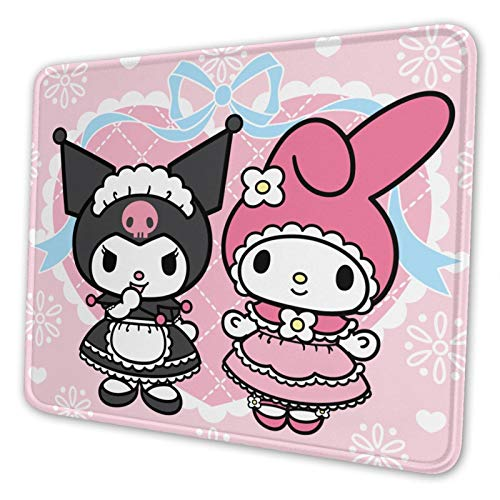 Cartoons Cute Kuromi Mouse Pad Polyester Kawaii My Melody Gaming Mouse Pad for Office Computer Large Mouse Pads for Wireless Mouse