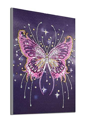 5d Diamant Malerei Kits New Special Shaped Diamant Stickerei DIY Kits Weihnachts Geschenke für Kinder Erwachsene Malen nach Anzahl Kreuzstich Handwerk Kit Malerei von Diamanten - Schmetterling (099)