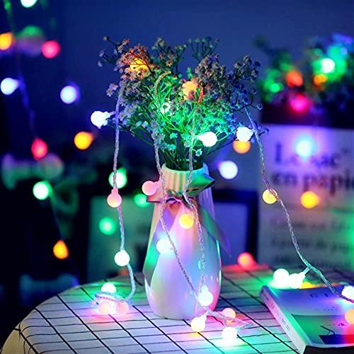 Coding Guirnalda de 20 luces LED para interior con forma de globo, multicolor, resistente al agua, funciona con pilas, 2 modos, para Navidad, fiestas, habitación infantil (3 m)