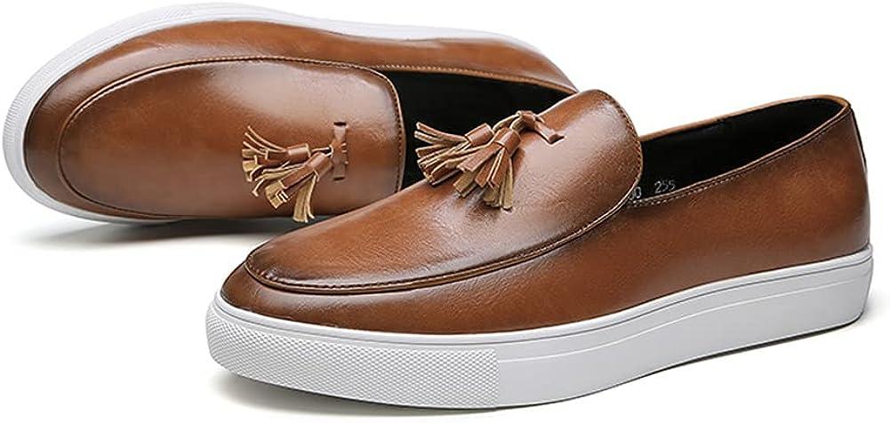Men's Classics Traditional Round-Toe Loafer Tuxedo Uniform Shoes Tassels Size 6-12.5