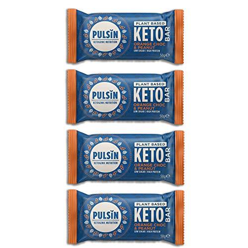 オレンジチョコ ピーナッツ ケトバー 50g×4個 PLANT BASE KETO BAR ケトジェニック ダイエットバー ヴィーガン グルテンフリー 中鎖脂肪酸 MCT 低炭水化物 高脂肪 ケト食事法