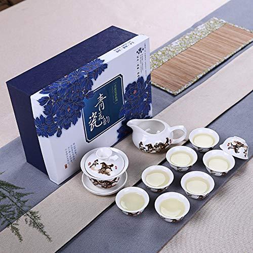 Ksnrang Un Juego Completo de Porcelana Blanca Logotipo Personalizable Actividades comerciales Taza...