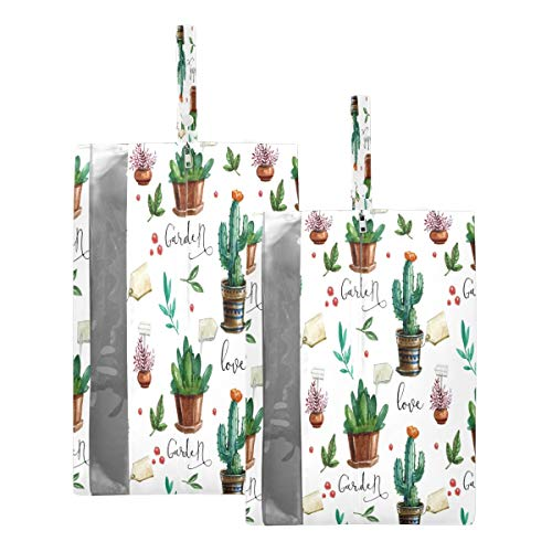 Mnsruu Bolsas de zapatos de viaje para plantas de cactus, 2 piezas, tamaño estándar: 23 x 38 cm, tamaño XL: 23 x 43 cm)