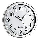 TFA Dostmann 60.3519.02 Corona Horloge Murale analogique Radio-pilotée avec rétroéclairage Vert Mouvement Silencieux en Plastique Argenté 30,8 x 30,8 x 4,3 cm 317 x 52 x 342 mm