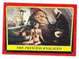 Jabba The Hut and Princess Leia Slave Girl trading card Return of the Jedi Star Wars 1983 Topps #32