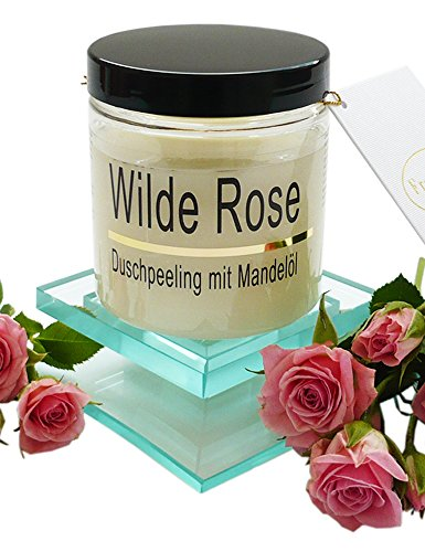 Gommage Corps Sel Rose sauvage Body Scrub avec huile d'amande, 320 g
