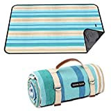 G GOOD GAIN Picnic Blanket Waterproof & Sand Proof,Beach Blanket Portable with Carry Strap, XL Large Foldable Picnic Rug Machine Washable for Outdoor Camping Party,Wet Grass,Hiking,Kids Playground.