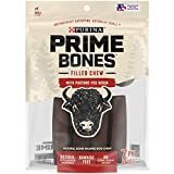 One (1) 11.2 oz. Pouch - Purina Prime Bones Made in USA Facilities Natural Small Dog Treats, Filled Chew With Pasture-Fed Bison Plastic & rawhide free dog chews Filled bones made with real pasture-fed bison Natural dog treats with added minerals Indu...