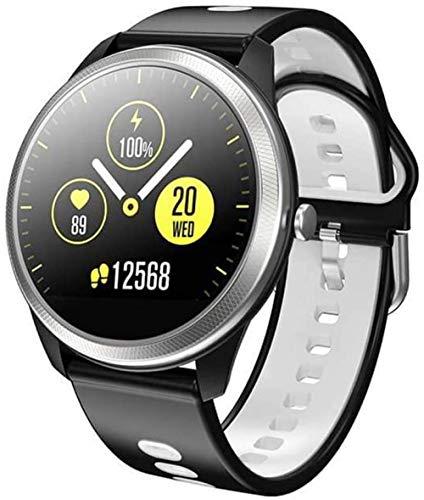 SHIJIAN Reloj inteligente de moda, pantalla grande de 1.25 pulgadas, pantalla grande, Bluetooth música tiempo, pulsera impermeable, regalos para hombres y mujeres-B