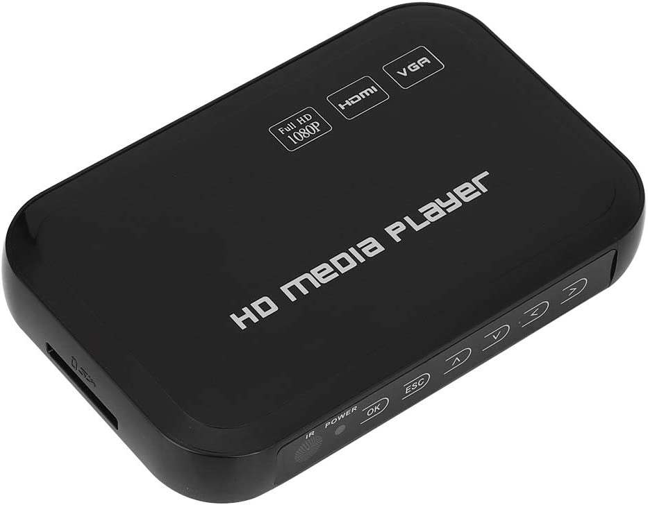 Video Media Player, 1080P Mini Durable HDMI Video Player Strong Compatibility, for Home Household(American Plug)