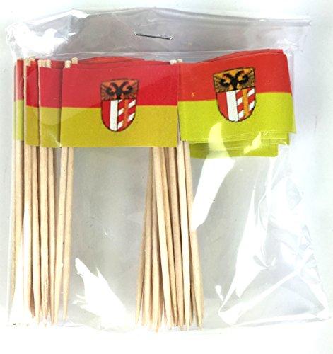 Buddel-Bini 2te Wahl Party-Picker Flagge Schwaben Papierfähnchen in Profiqualität 50 Stück Beutel Offsetdruck Riesenauswahl aus eigener Herstellung