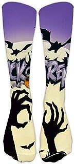 Calcetines Halloween Calcetines De Fútbol Calcetines De Algodón Altos Con Estampado Murciélago Medias Fantasma 3D Impresión Calcetines Hasta La Rodilla Mantener El Calor Calcetines Largos(1 Par)