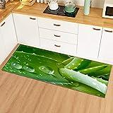 OPLJ Alfombrillas de Suelo con patrón de Hoja de Planta Alfombrillas de Cocina decoración del Dormitorio del hogar Alfombra...