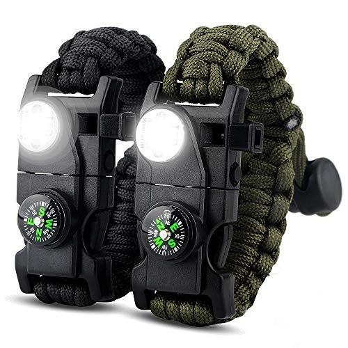 IMPHOM Survival Bracelet Paracord Military Accessories Kit