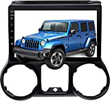 Car Stereo Radio in Dash Navigation Head Unit for Jeep Wrangler 2011-2014, Android 10.0 Player with Carplay 10.1 inch IPS Touchscreen Support Bluetooth/WiFi with Backup Camera.