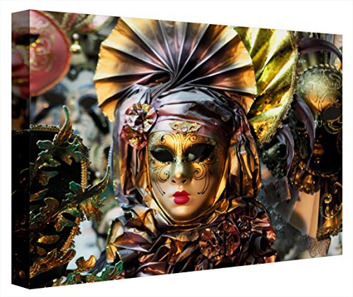 CCRETROILUMINADOS Máscaras Venecianas Cuadro Decorativo Iluminado, Metacrilato, Multicolor, 60 x 80 x 5.3 cms