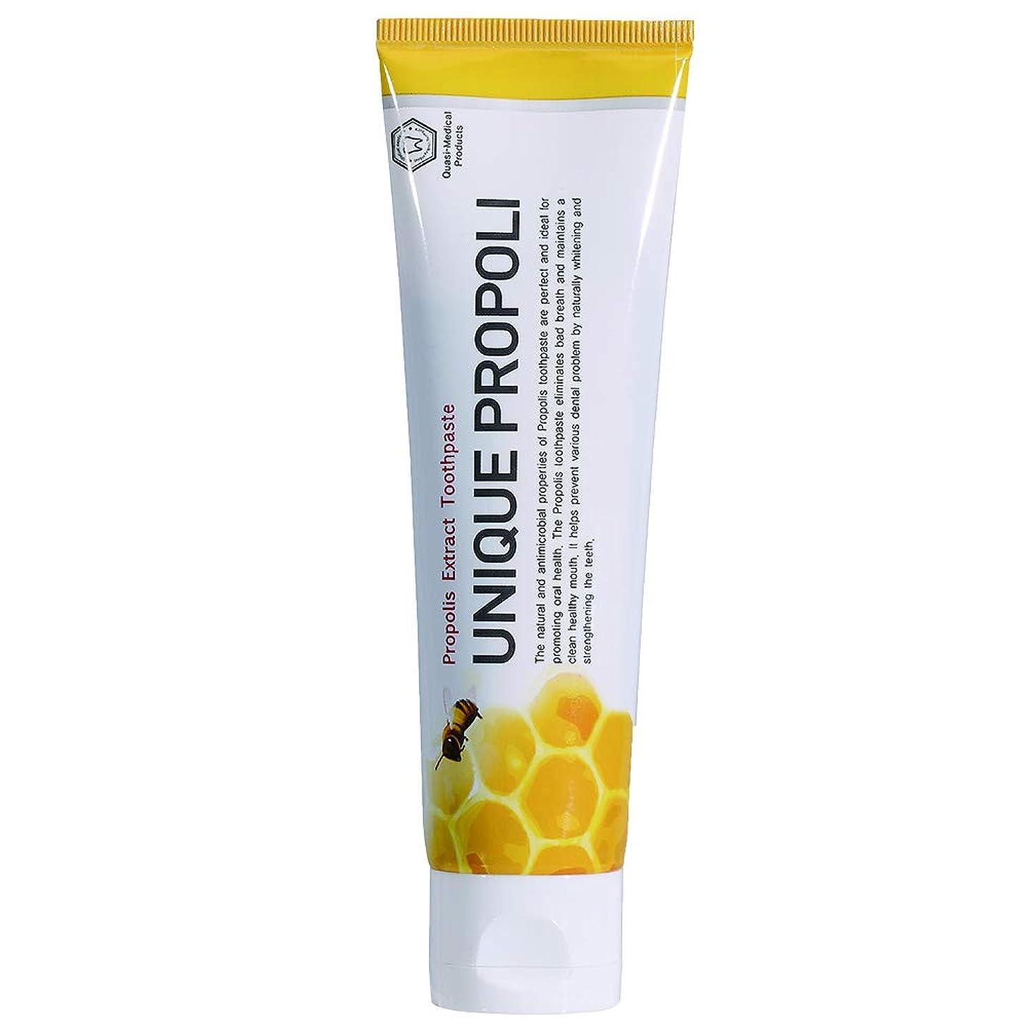 鼓舞する配管工明らかにするUNIQUE PROPOLI ユニークプロポリ歯磨き粉 120g,