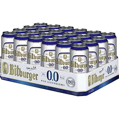 2 x Bitburger Pilsener 24x0,5L = 48 Dosen 0.0 ALKOHOLFREI EINWEG