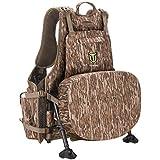 TIDEWE Turkey Vest with Seat, Strut Turkey Hunting Vest (Mossy Oak Bottomland)