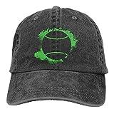 Jupsero Dardos Unisex Sombrero de Mezclilla para Alimentos Gorras de béisbol de papá de algodón teñido Lavado Ajustable