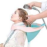 DECMAY Haarwaschbecken, Mobiles Haarwaschwanne Waschbecken Rückwärtswaschbecken Faltbares für Behinderte, bettlägerige Patienten, ältere, Schwangere