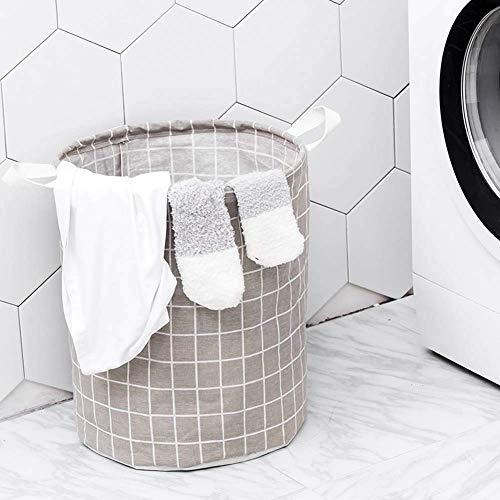 Classic Scottish Laundry Basket Waterproof Folding Storage Basket Toy Organizer Bucket, White