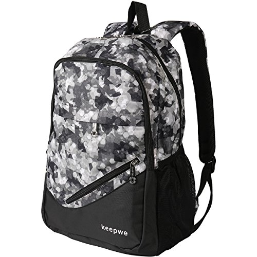 Travel Laptop Backpack, KEEPWE 15.6 in Laptop Backpack For Women and Men, Lightweight Nylon Stylish School and College Backpack for Girls and Boys