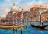 PQGHJ Rompecabezas 1000 Piezas Mid-Venice-Grand Canal Adultos Puzzle 1000 Piezas Juego de Rompecabezas desafiante Decoraciones navideñas