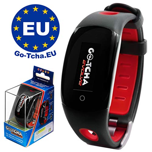 Go-Tcha Evolve 2020 LED-Touch-Armband Pokéball- Rot Edition für Pokémon Go (Alternative zu Go Plus)