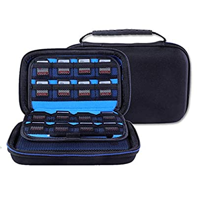 Soyan Carrying Case for Nintendo New 3DS XL and 2DS XL, with 16 SD Card Holders, with Carry Handle