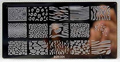 Panrot 1Pc Nail Stamping Plates DIY Image Bows Nail Art Manicure Templates Stencils Salon Beauty Polish Tools (Bcn4)