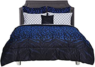 Beco Home Bedding Collection: 8 Piece Bed-in-a-Bag Comforter Set, Keira (Zebra/Leopard Print), Queen