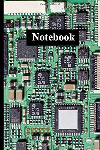 Notebook: Green circuit board motherboard for computers [6x9 inches 110 pages] Green circuit board / motherboard for computers Gift for Engineer Student and Teacher