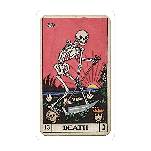 Cozac-3pcs-Death-Tarot-Sticker for Laptop, Phone, Cars, Decal Vinyl Funny Stickers for Computers, Bumpers, Hydro Flasks, Water Bottles, Case