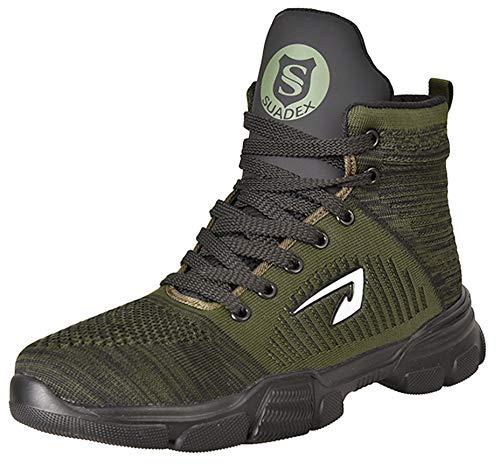 SUADEX オシャレ 冬用 安全靴ハイカット あんぜん靴 ブーツ 作業靴 安全ブーツ 軽量 みどり 安全 半長靴 あんぜん はいカット安全 ショートブーツ 鋼先芯 耐摩耗 ケブラー防刺 鉄芯