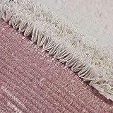 SHACOS 2er Set Teppich Baumwolle Waschbar Gewebt Teppich Vintage Grau Baumwollteppich Flur Teppich für Wohnzimmer Eingang Badezimmer 60x90cm+60x130cm - 2