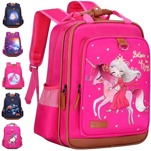 Kids Backpack 15' Stain Proof Durable and Functional   Stylish Girls Unicorn Book Bag for School, Perfect for Kindergarten or Elementary