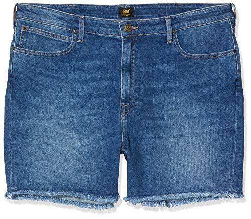 Lee Femme Boyfriend Plus Size Shorts, Bleu (Blue Drop EM), 44W