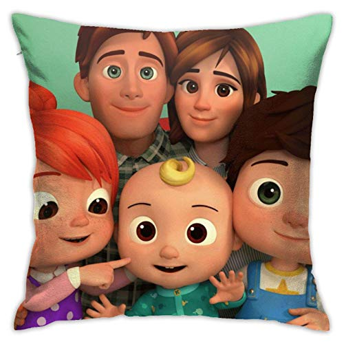 Tengyuntong Throw Square Throw Pillowcover/PillowcaseCocomelon Comfort Home, Fundas Sofá Decoración