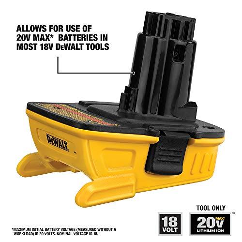 DEWALT 18v to 20v Adapter - Bare (DCA1820),Yellow/Black