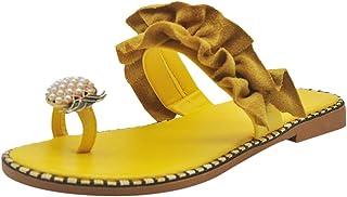 Sandalias de Verano para Mujer piña Perla Casuales Sandalias de Playa Sandalias con Punta Abierta Cómodos Zapatillas Cuida...