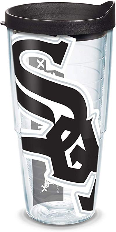 Tervis 1091380 MLB Chi White Sox Col Tumbler With Black Lid Wrap 24 Oz Clear