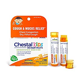 Boiron Chestal Cough and Mucus Relief for Kids 2 Tubes 80 Meltaway Pellets Each